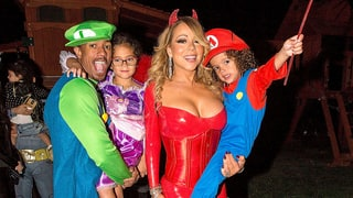 Nick Cannon, Monroe Cannon, Mariah Carey and Moroccan Cannon