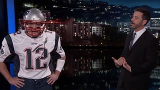 Matt Damon Sneaks Onto 'Jimmy Kimmel Live' Dressed as Tom Brady and Finally Gets His Guest Appearance