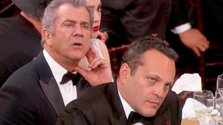 Mel Gibson, Vince Vaughn's Stone-Faced Reaction to Meryl Streep's Golden Globes Speech Is Getting Buzz