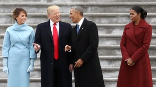 Melania Trump, Donald Trump, Barack Obama and Michelle Obama