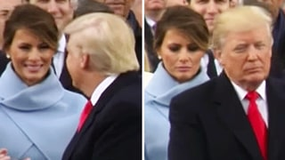 ICYMI: We Can't Stop Watching Melania Trump's Face Fall After Donald Trump Interaction