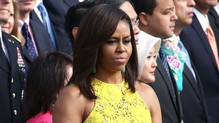 Michelle Obama Is Pure Sunshine in This Yellow Lace Dress