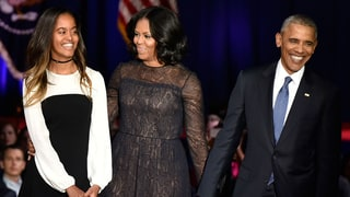 Michelle, Malia Obama Choose Understated Glamour for President's Farewell Address
