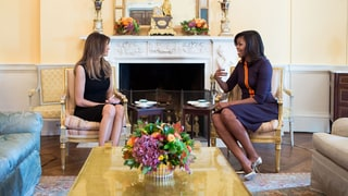 Michelle Obama and Melania Trump Have Tea at the White House — Cue the Internet