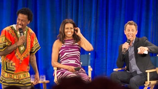 Michelle Obama, Seth Meyers Visit Nick Cannon at Howard University: 'Don't Rush to be Ballin''