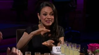 Mila Kunis Talks Ashton Kutcher's Manhood With James Corden: Is it a 'Carrot Stick' or a 'Beer Can?'