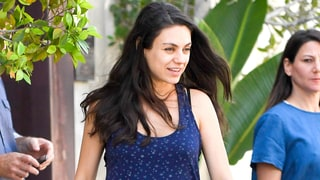 Pregnant Mila Kunis Grabs Lunch in Los Angeles — See Her Bump!