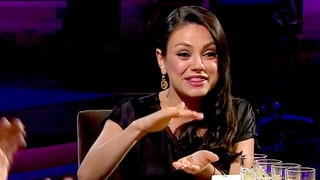 Mila Kunis Talks Ashton Kutcher's Manhood With James Corden: Is it a 'Carrot Stick' or a 'Beer Can'?