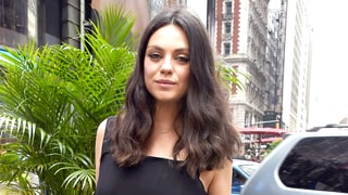 Pregnant Mila Kunis Tries the Maternity Overalls Trend