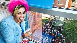 Miley Cyrus Surprises George Mason University Students in Push to Vote for Hillary Clinton