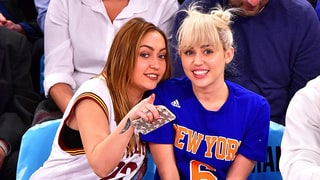 Cyrus Sisters Check Out The Cavs