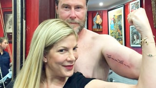 Tori Spelling and Dean McDermott Celebrate Their 10th Anniversary With Matching Tattoos