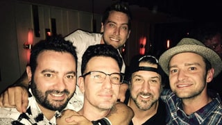 'NSync (Including Justin Timberlake!) Reunites for JC Chasez's 40th Birthday: Photo, Details!