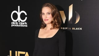 Pregnant Natalie Portman Proves That a Little Black Dress Will Never Go Out of Style