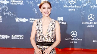 Natalie Portman Shows Some Skin in Plunging Neckline Dress on the Red Carpet