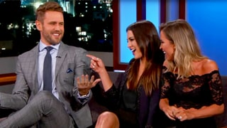 Nick Viall Reunites With Exes Andi Dorfman, Kaitlyn Bristowe on 'Jimmy Kimmel': Watch
