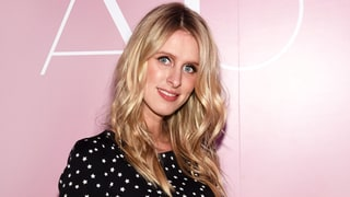 Pregnant Nicky Hilton Works Her Baby Bump in a Tight, Printed Minidress