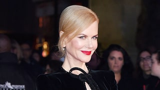 Nicole Kidman Pulls an Angelina Jolie in Dramatic Black Dress With High Slit