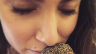 Nikki Reed Cuddles an Orphaned Baby Squirrel: Picture