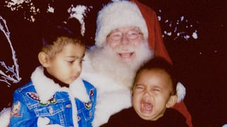 Saint West Bawls Meeting Santa With North West in Hilarious Photo