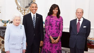 Here's What the Obamas Wore to Queen Elizabeth II's Birthday Lunch