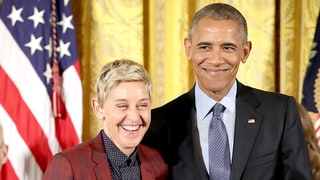 Ellen DeGeneres Forgets Her ID, Posts Mannequin Challenge at the White House