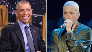 Watch President Obama Get Hyped for DNC Speech by Listening to Eminem's 'Lose Yourself'