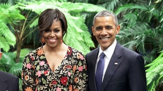 Michelle Obama Proves That Florals Work for Evening Too