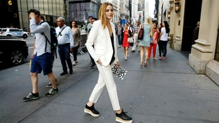 How to Steal Olivia Palermo's Crisp White Pantsuit Look for Way Less