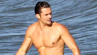 Orlando Bloom Is Shirtless, But Sadly Not Naked, on the Beach, But We Still Love Him