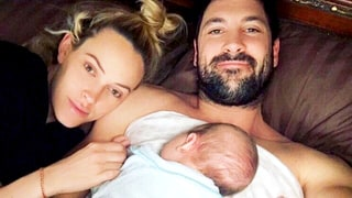 Maksim Chmerkovskiy, Peta Murgatroyd Share First Photos of Baby Shai on Valentine's Day: 'I'm in Love With Us'