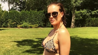 Peta Murgatroyd Shows Off Baby Bump in Teeny Cheetah Bikini at 'Almost 14 Weeks'