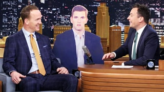 Peyton Manning Spoofs Eli Manning's Stoic Super Bowl Face on 'The Tonight Show'