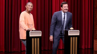 See Pharrell Battle Jimmy Fallon in Song-Naming Challenge