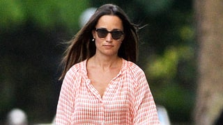 Pippa Middleton Walks Her Dog (and Her Gigantic Engagement Ring) in a Breezy Summer Ensemble