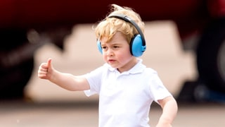 Prince George Is the Cutest Helicopter Passenger Ever With Duchess Kate and Prince William: Photos