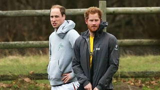 Prince William and Brother Harry Get Down and Dirty in Christmas Eve Soccer Game: Photos