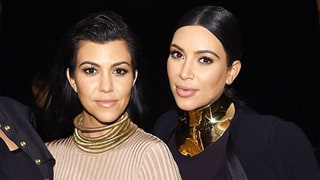 Kim and Kourtney Kardashian Give a Sneak Peek of the Baby Yeezy Boosts