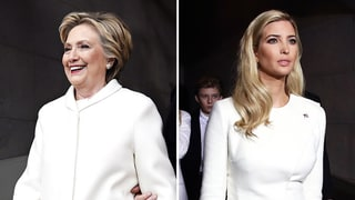Hillary Clinton and Ivanka Trump Both Choose White Pantsuits for Inauguration Day
