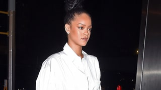 Rihanna Turns White Button-Up Into a Dress for Date With Drake