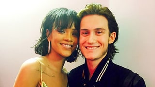 Celine Dion's Son Rene-Charles Angelil Poses With Rihanna at Billboard Music Awards 2016