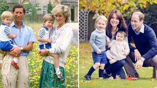 Compare the 1986 Royal Family Photo of Charles and Diana to the 2015 Portrait of Will and Kate