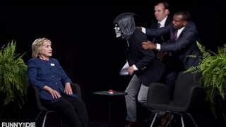 Hillary Clinton, Zach Galifianakis Trade Trump Jokes on 'Between Two Ferns'
