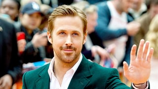 Here's Ryan Gosling Smoldering From All Angles in a Dark Green Suit, Because It's Friday