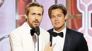 Ryan Gosling, Brad Pitt Bicker, Are Overwhelmingly Hot While Presenting at the Golden Globes 2016