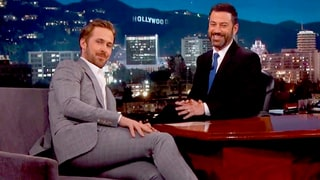 Ryan Gosling Wears Too-Tight Suit, Mentions His 'Little Girl' on 'Jimmy Kimmel'