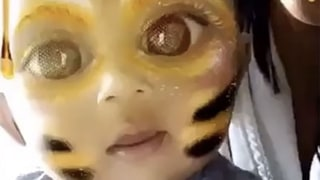 Kim Kardashian Shares Adorable Snapchat Video of Saint: Could It Bee Any Cuter?