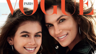 Cindy Crawford Poses With Look-Alike Daughter Kaia Gerber for 'Vogue Paris'