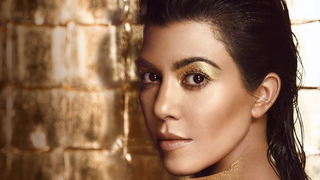 Kourtney Kardashian Covers Herself in Gold Glitter for New Beauty Campaign