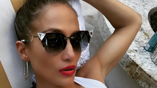 Jennifer Lopez Makes an Excellent Case for the One-Piece in This Plunging Swimsuit